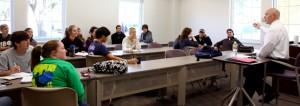 Small class sizes at TCU are essential to encouraging open discussion among classmates.