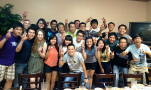 Students in the International Student Association get together for a weekly meeting.