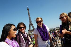 TCU students studying abroad in Paris, France.