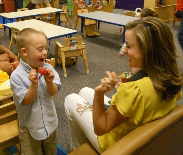 Students receive hands-on learning by working at TCU's on campus elementary and preschools.