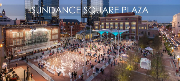 Sundance Square is definitely the destination for entertainment in downtown Fort Worth.