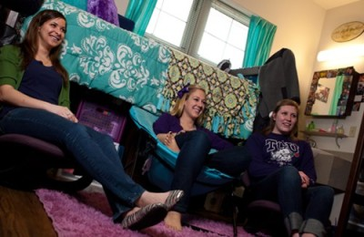 Residence Halls at TCU serve as their own community within the greater TCU community.