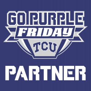 If you see this sign at stores and restaurants around Fort Worth, you can receive discounts on Fridays in the fall simply by wearing purple!