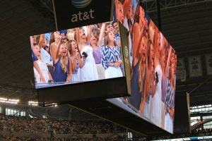 Even Jerry Jones's jumbotron couldn't contain the TCU spirit.