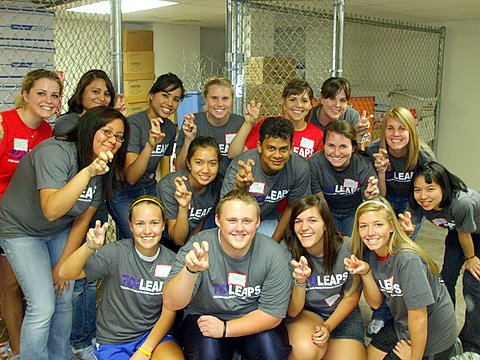 TCU LEAPS, a campus-wide day of service, is the perfect way to get wrapped up in the TCU and Fort Worth communities.