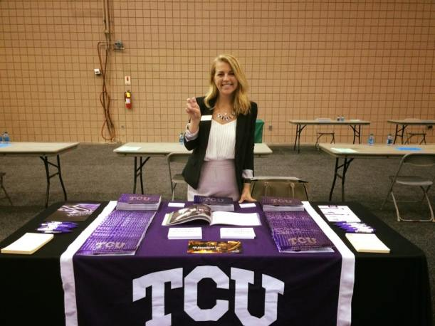 Mollie at her first college fair in Atlanta a couple weeks ago. We've hit the road so come see us!